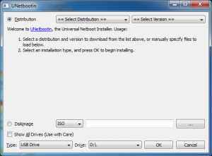 UNetbootin User Interface
